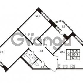 Продается квартира 3-ком 93.9 м² Колтушское шоссе 66, метро Ладожская