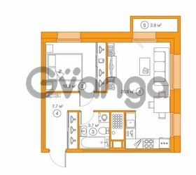 Продается квартира 1-ком 42 м² Комендантский проспект 58к 1, метро Комендантский проспект