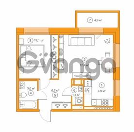 Продается квартира 1-ком 46.2 м² Комендантский проспект 58к 1, метро Комендантский проспект