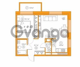 Продается квартира 1-ком 45.83 м² Комендантский проспект 58к 1, метро Комендантский проспект