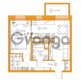 Продается квартира 1-ком 47.07 м² Комендантский проспект 58к 1, метро Комендантский проспект