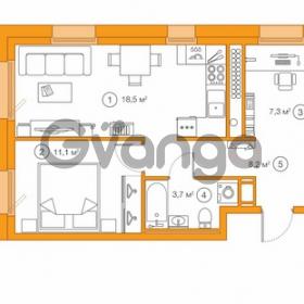 Продается квартира 1-ком 48.78 м² Комендантский проспект 58к 1, метро Комендантский проспект