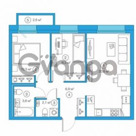 Продается квартира 2-ком 53 м² Комендантский проспект 58к 1, метро Комендантский проспект