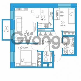 Продается квартира 2-ком 55.15 м² Комендантский проспект 58к 1, метро Комендантский проспект