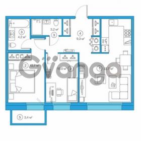 Продается квартира 2-ком 62.06 м² Комендантский проспект 58к 1, метро Комендантский проспект