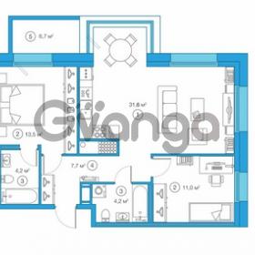 Продается квартира 2-ком 72.24 м² Комендантский проспект 58к 1, метро Комендантский проспект