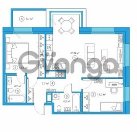 Продается квартира 2-ком 72.78 м² Комендантский проспект 58к 1, метро Комендантский проспект