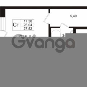 Продается квартира 1-ком 24.06 м² Охтинская аллея 1, метро Девяткино