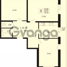 Продается квартира 3-ком 72.07 м² Охтинская аллея 1, метро Девяткино