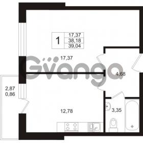 Продается квартира 1-ком 38.18 м² Охтинская аллея 1, метро Девяткино