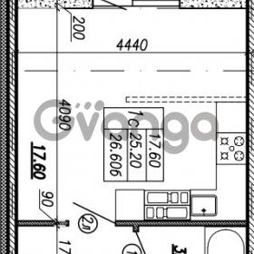 Продается квартира 1-ком 26.6 м² улица Бабушкина 82к 1, метро Пролетарская