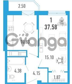 Продается квартира 1-ком 37 м² улица Шувалова 1, метро Девяткино