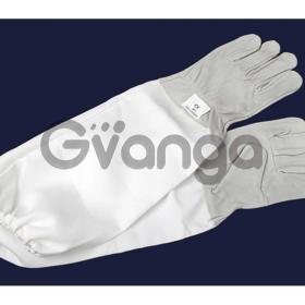 """Перчатки кожаные с нарукавником """"Lux"""" серые 240 грн"""