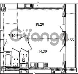 Продается квартира 1-ком 47 м² Кременчугская улица 23, метро Площадь Восстания