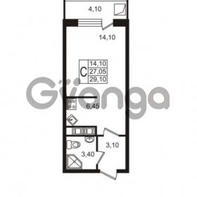 Продается квартира 1-ком 27.05 м² Привокзальная улица 1, метро Купчино
