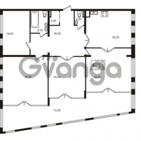 Продается квартира 2-ком 173.1 м² Приморский проспект 44, метро Старая деревня