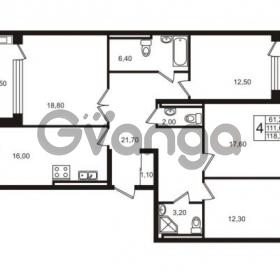 Продается квартира 4-ком 111.6 м² Приморский проспект 44, метро Старая деревня