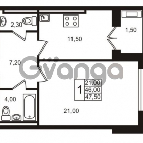 Продается квартира 1-ком 46 м² Приморский проспект 44, метро Старая деревня