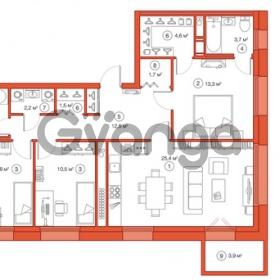 Продается квартира 3-ком 91.1 м² Комендантский проспект 58к 1, метро Комендантский проспект