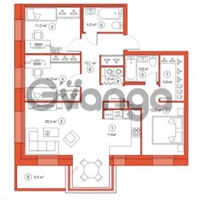 Продается квартира 3-ком 89.1 м² Комендантский проспект 58к 1, метро Комендантский проспект