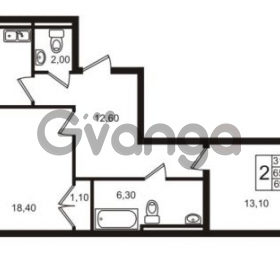 Продается квартира 2-ком 65.4 м² Приморский проспект 44, метро Старая деревня