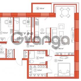 Продается квартира 3-ком 97.82 м² Комендантский проспект 58к 1, метро Комендантский проспект