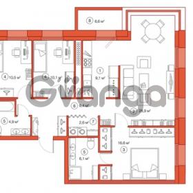 Продается квартира 3-ком 98.19 м² Комендантский проспект 58к 1, метро Комендантский проспект