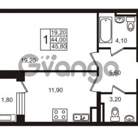 Продается квартира 1-ком 45.8 м² Приморский проспект 44, метро Старая деревня