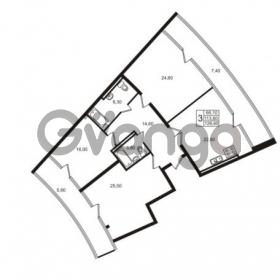 Продается квартира 4-ком 126.6 м² Приморский проспект 44, метро Старая деревня