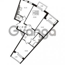 Продается квартира 3-ком 97.5 м² Приморский проспект 44, метро Старая деревня