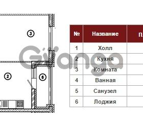 Продается квартира 1-ком 44 м² Кременчугская улица 9к 2, метро Площадь Восстания