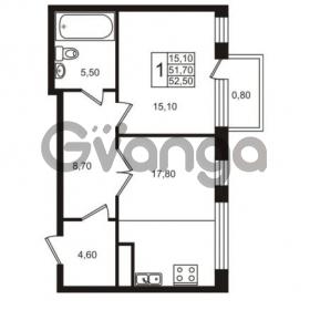 Продается квартира 1-ком 52.5 м² Приморский проспект 44, метро Старая деревня