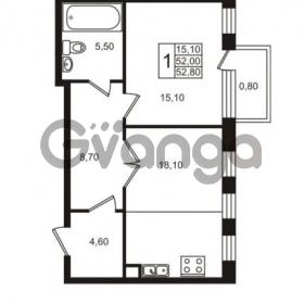 Продается квартира 1-ком 52.8 м² Приморский проспект 44, метро Старая деревня