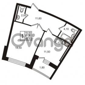 Продается квартира 1-ком 49.5 м² Приморский проспект 44, метро Старая деревня
