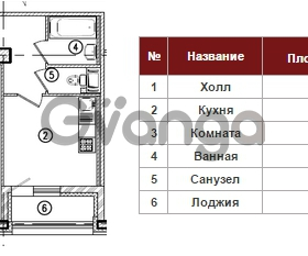 Продается квартира 1-ком 47 м² Полтавский проезд 2, метро Площадь Восстания