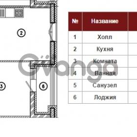 Продается квартира 1-ком 42 м² Полтавский проезд 2, метро Площадь Восстания