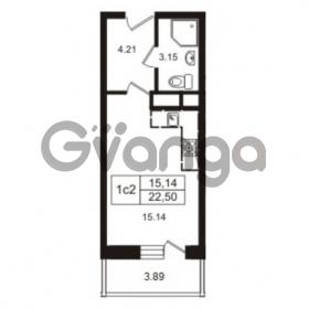 Продается квартира 1-ком 22.5 м² Школьная улица 7к 2, метро Купчино