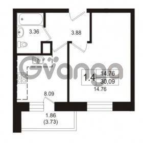 Продается квартира 1-ком 30.09 м² Школьная улица 7к 2, метро Купчино