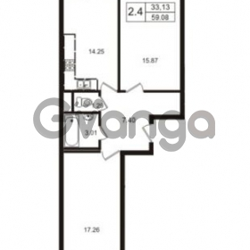 Продается квартира 2-ком 59.08 м² Школьная улица 7к 2, метро Купчино