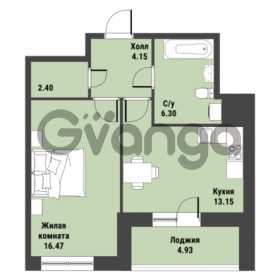 Продается квартира 1-ком 47.01 м² Советский проспект 24, метро Рыбацкое
