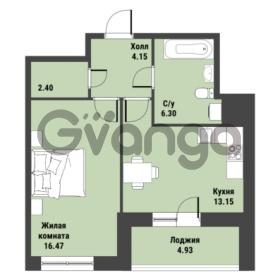 Продается квартира 1-ком 44.93 м² Советский проспект 24, метро Рыбацкое