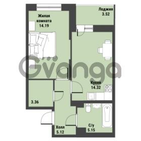 Продается квартира 1-ком 43.9 м² Советский проспект 24, метро Рыбацкое