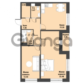Продается квартира 2-ком 69.17 м² Советский проспект 24, метро Рыбацкое