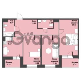 Продается квартира 3-ком 80.33 м² Советский проспект 24, метро Рыбацкое