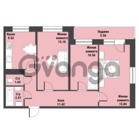 Продается квартира 3-ком 69.83 м² Советский проспект 24, метро Рыбацкое