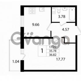 Продается квартира 1-ком 36.82 м² Австрийская улица 3, метро Улица Дыбенко