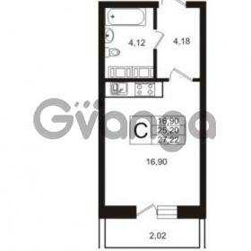 Продается квартира 1-ком 25.2 м² Австрийская улица 4, метро Улица Дыбенко
