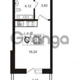 Продается квартира 1-ком 25.5 м² Австрийская улица 4, метро Улица Дыбенко