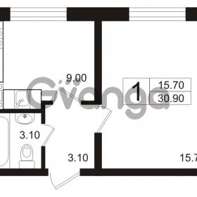 Продается квартира 1-ком 30.9 м² Школьная 6, метро Проспект Просвещения