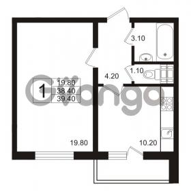 Продается квартира 1-ком 39.4 м² Школьная 6, метро Проспект Просвещения